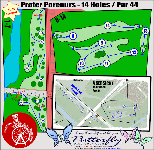 Prater Parcoursplan ab Juli 2017 by Putterfly Disc Golf