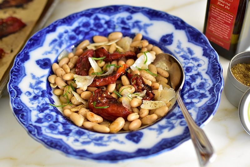 White Beans with Za'atar Roasted Tomatoes and Olive Oil Recipe