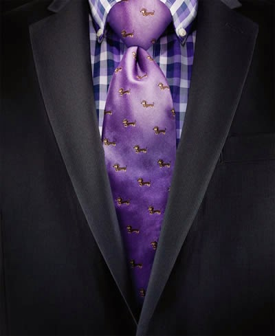 Chaps dolly dog-print tie