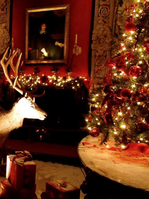 Arranjo natalino no castelo de Vaux-le-vicomte