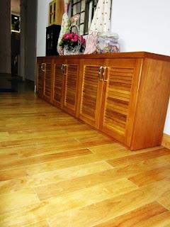 Sàn gỗ cao su - phòng khách