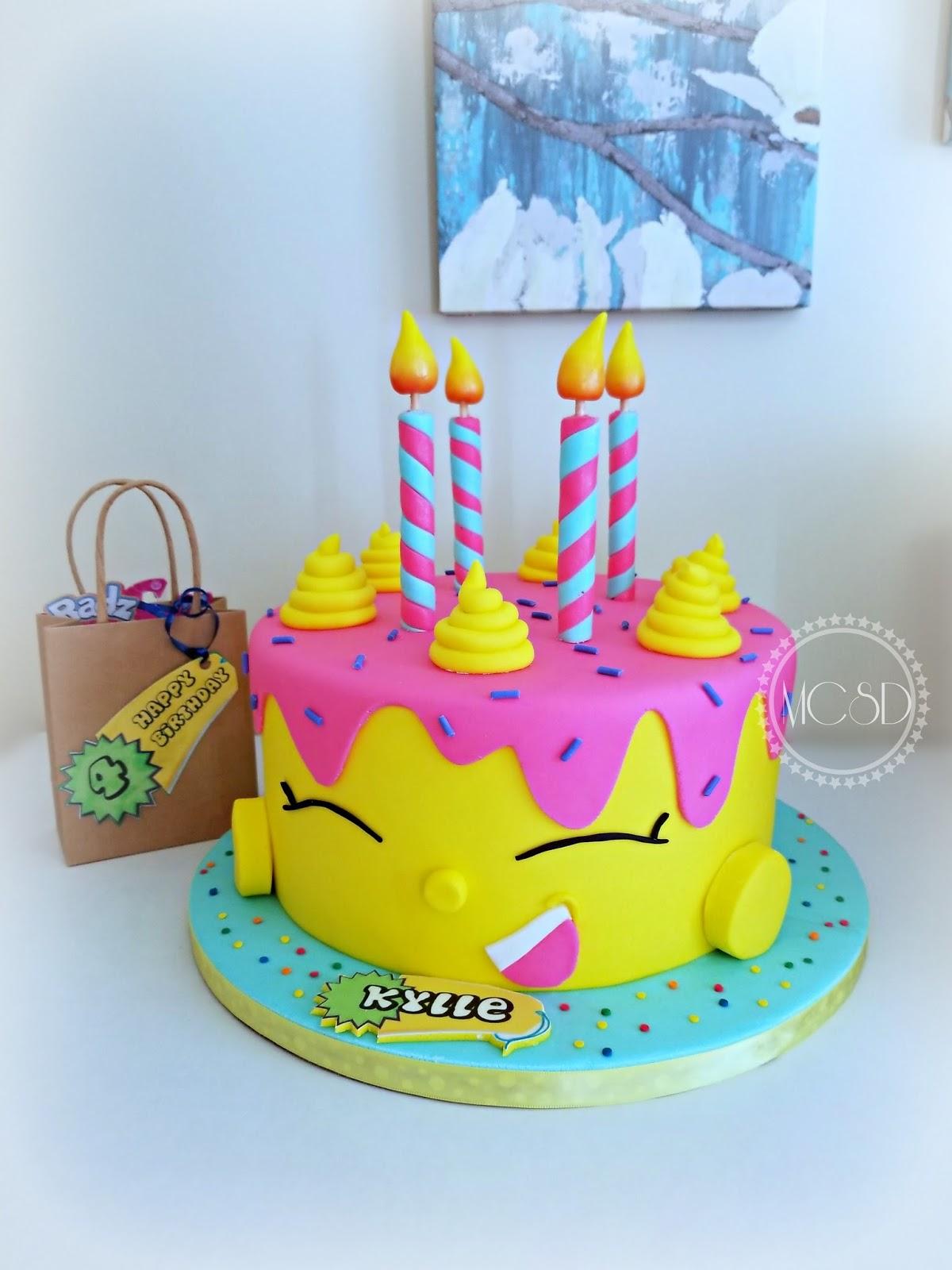 Cakesbyzana Shopkins Birthday Cake