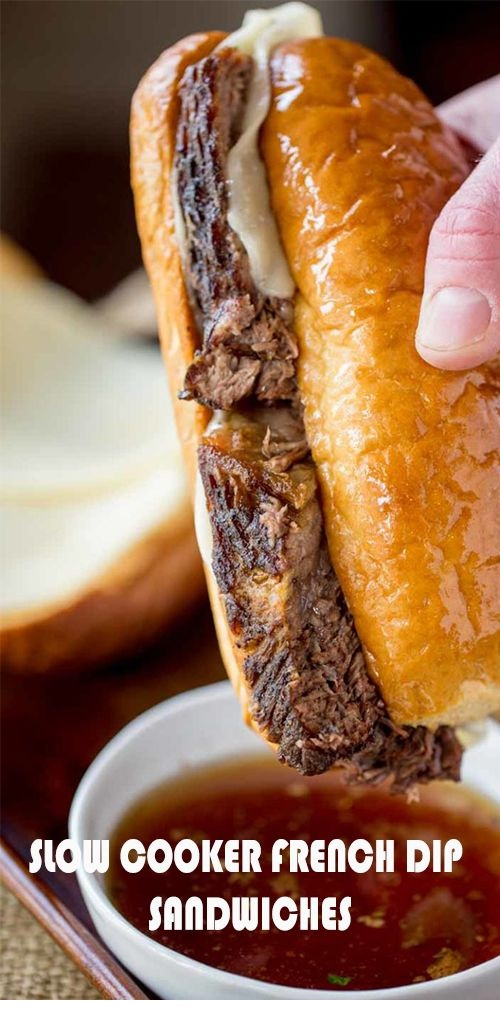 Slow Cooker French Dip Sȧndwiches