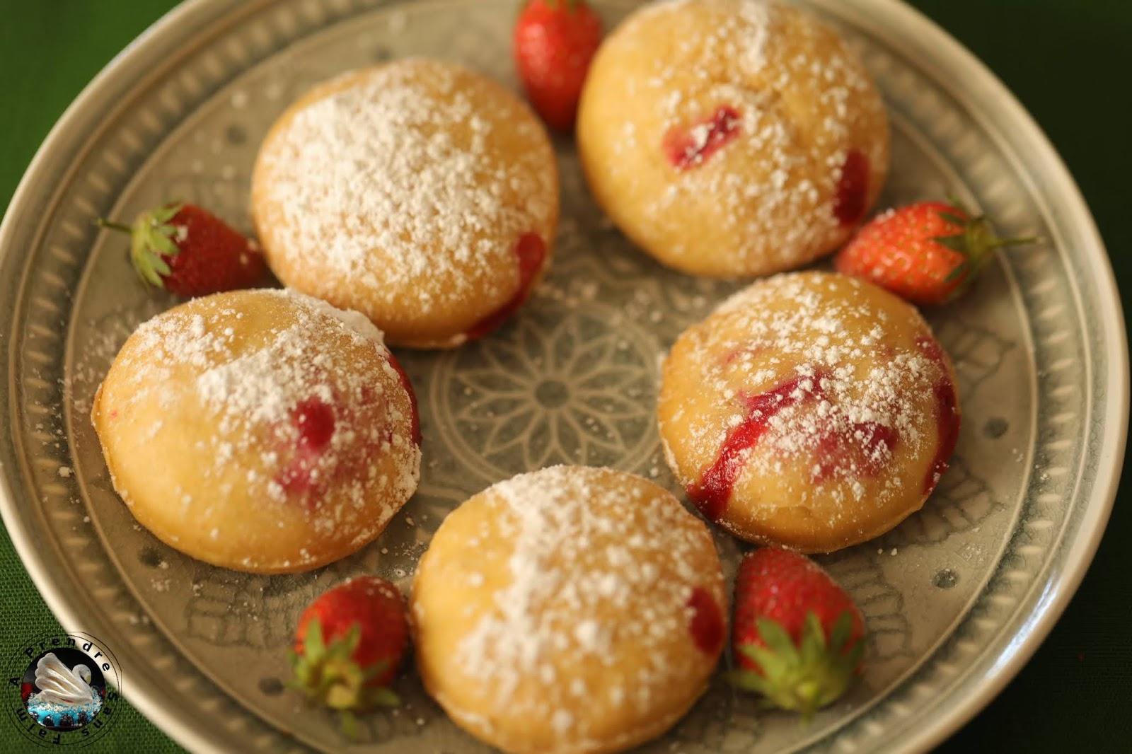 Beignets aux fraises