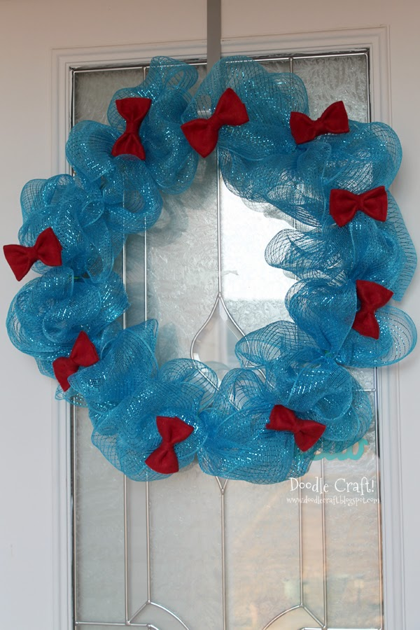 Doctor Who Inspired Bow Tie Wreath