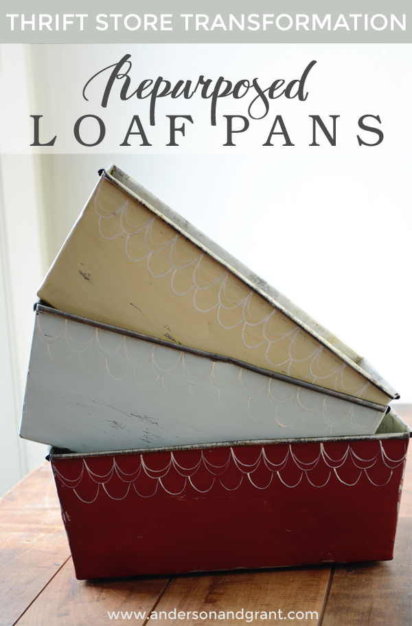 Thrift Store Transformation 2 Repurposed Loaf Pans Anderson Grant