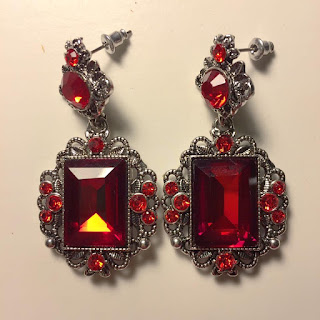 walmart red ruby statement earrings