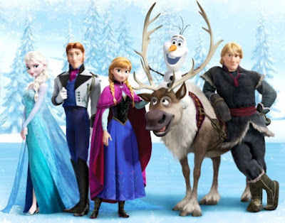 Imagen de los personajes de Frozen a colores