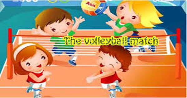 the volleyball match essay in english hania naz grammar a volleyball match was played on our ground yesterday it was between the friends club and the heroes club both the teams were equally strong