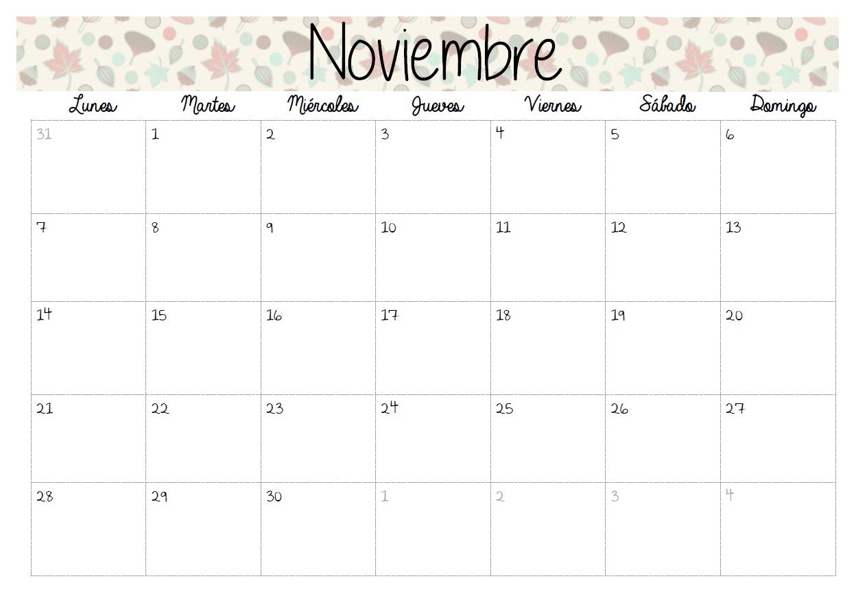 Handmade lovers calendarios 2016 for Calendario lunar noviembre 2016