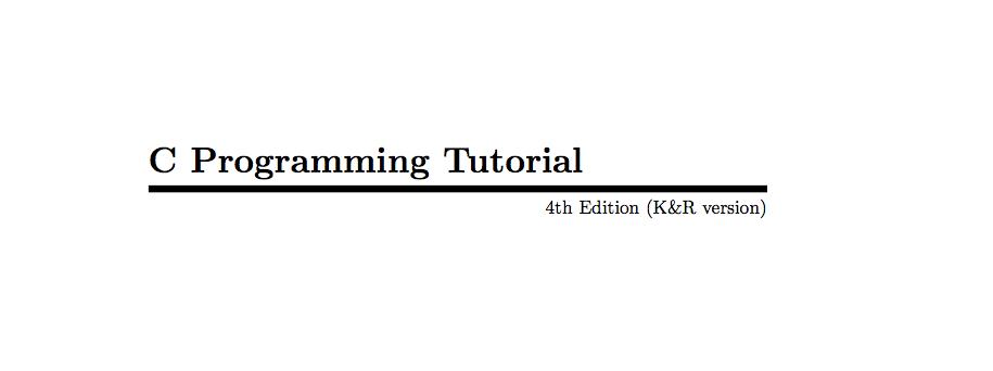 C Programming Tutorials by Mark Burgess PDF Free Download