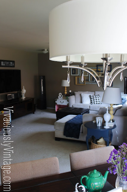 Living Room Inspiration. Transitional Chandelier