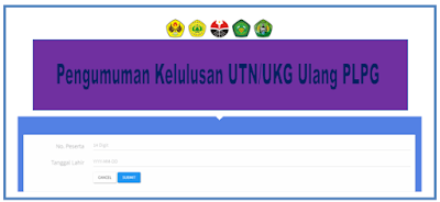 beberapa waktu yang kemudian sudah di informasikan oleh Lembaga Pendidik Tenaga Kependidikan  info OPS :  Informasi Pengumuman UKG/UTN Ulang 1 dan 3 Semua Rayon LPTK 2018