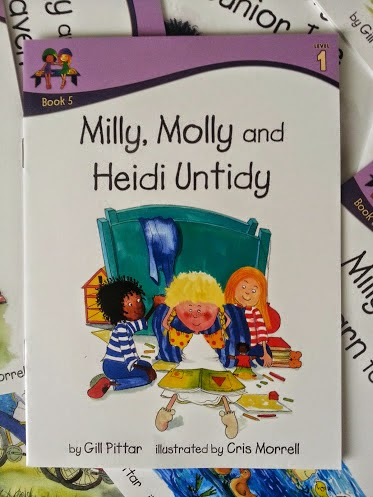 Milly, Molly and Heidi Untidy book cover for early readers