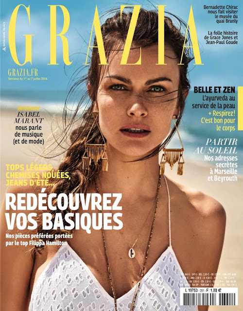 Fashion Model, @ Filippa Hamilton - Grazia France July 2016