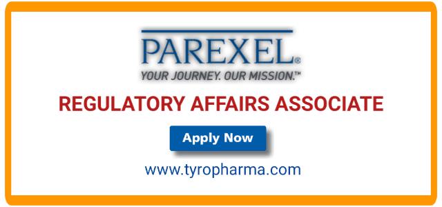 Regulatory Affairs Associate job at PAREXEL | B.Pharm, M.Pharm