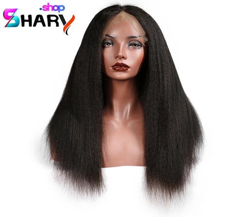 a3a4310ae باروكة استريت شعر طبيعي خشن متوسط برازيلي طول 18 انش لون اسود | shaary.shop