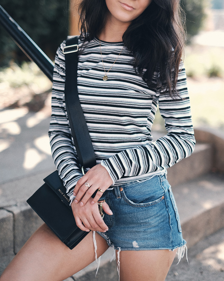#ladiesinlevis #liveinlevis how to style denim shorts for fall, denim shorts outfits fall