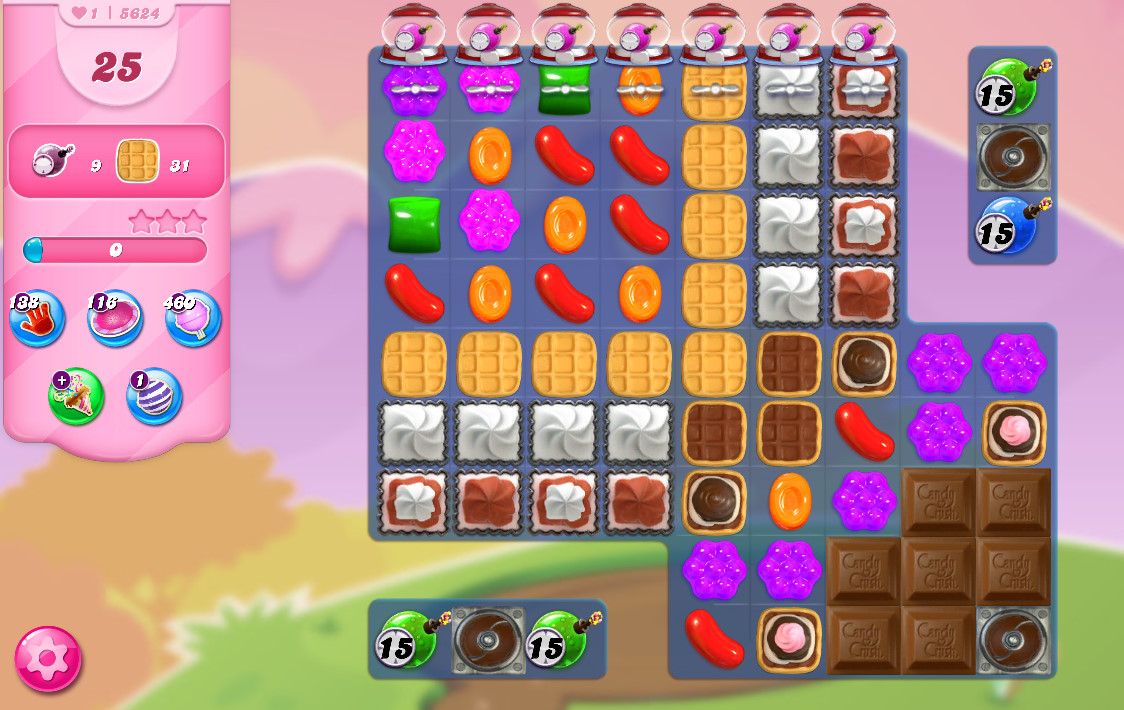 Candy Crush Saga level 5624