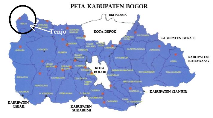 Kecamatan Tenjo Dalam Peta Kabupaten Bogor ~ Blogger Tenjo