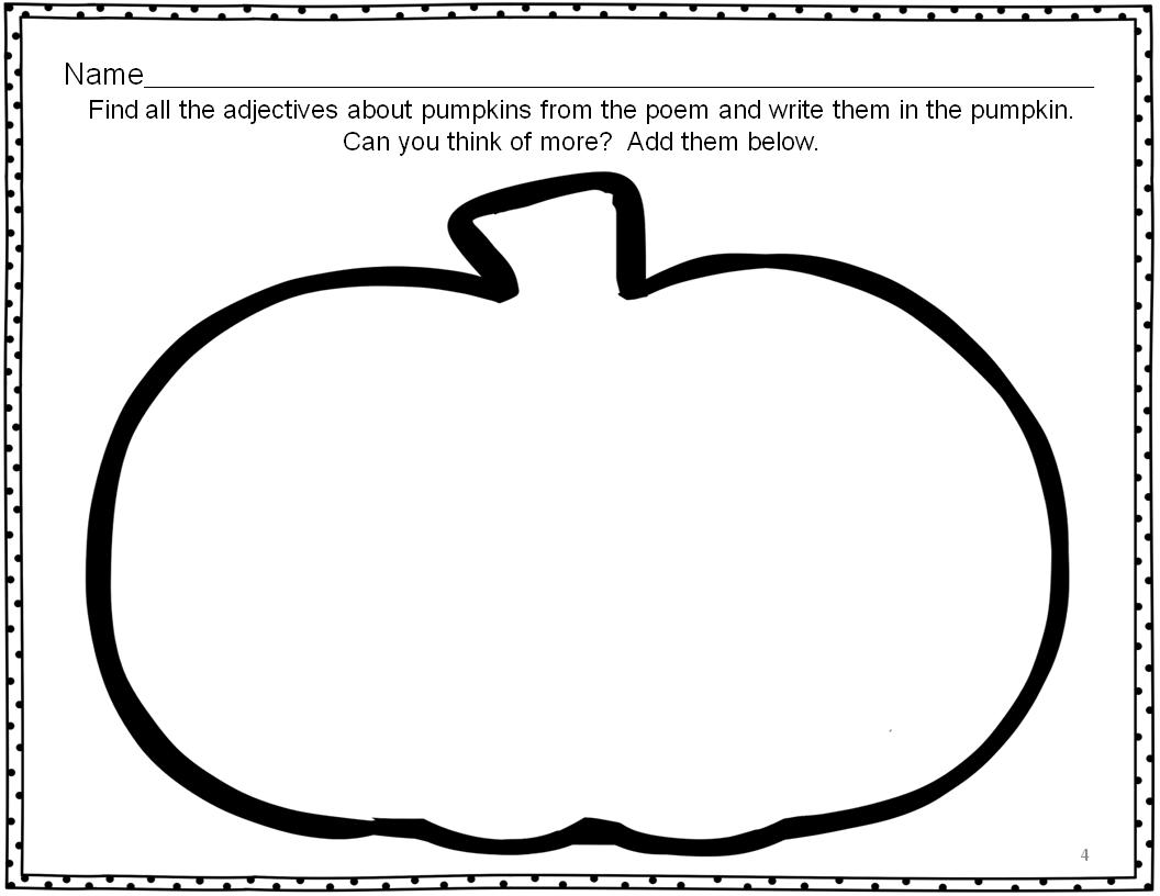 Classroom Freebies Pumpkin Literacy Activities