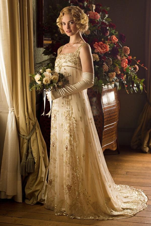 Los Vestidos De Novia De Downton Abbey Entre Tul Y Margaritas