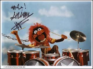 Muppet. Bestia tocando la batería