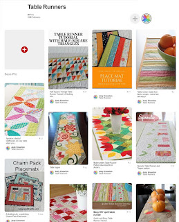 table runner pinterest board by A Bright Corner