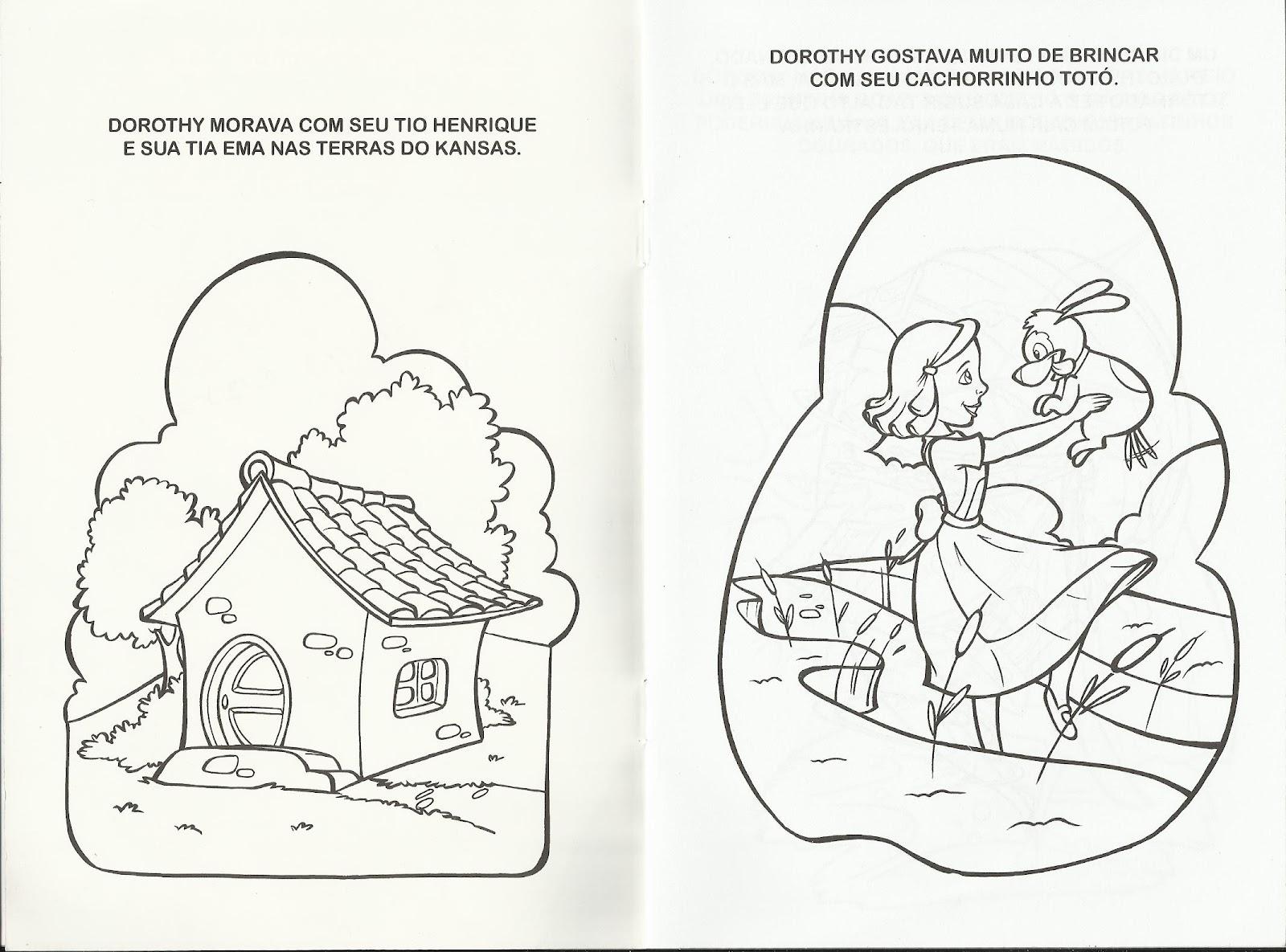 Livro De Colorir O Magico De Oz Gratis Para Imprimir Historia O
