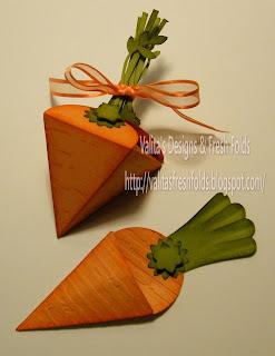 Valita's Designs & Fresh Folds: Making those cute carrot ...