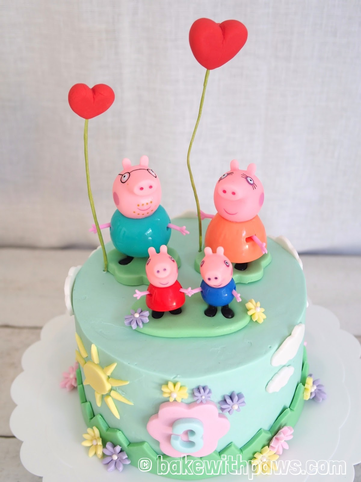 Admirable Peppa Pig Birthday Cake Bake With Paws Personalised Birthday Cards Paralily Jamesorg