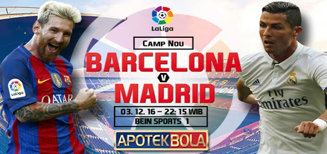 Prediksi Pertandingan Barcelona vs Real Madrid 3 Desember 2016