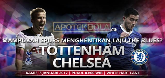 Prediksi Pertandingan Tottenham Hotspur vs Chelsea 5 Januari 2017