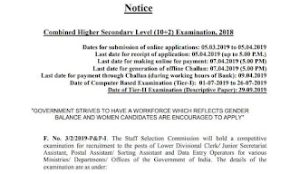SSC CHSL 2018 Notification PDF