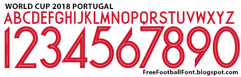Free Football Fonts: World Cup 2018 Portugal Nike Font