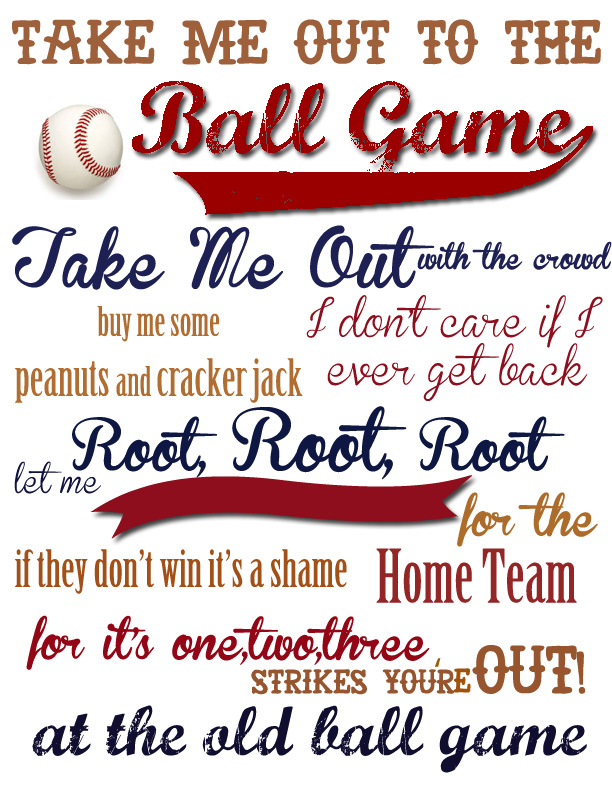 Baseball Boys Room Take Me Out to the Ball Game {With FREE ...