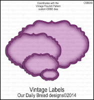 ODBD Custom Vintage Labels Dies