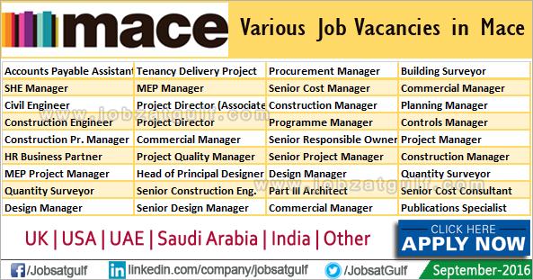 Various Job Vacancies in Mace - Jobzatgulf com