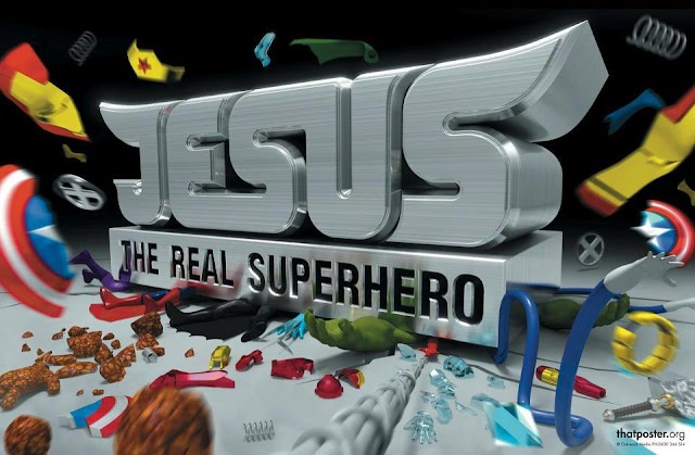 Jesus the Real Super Hero Wallpaper
