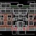 مشروع عمارة سكنية من طابقين اتوكاد Apartment building dwg