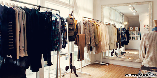 Select clothing stores
