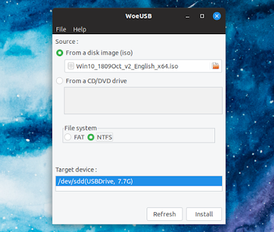 How To Make a Bootable Windows 10 USB On Linux Using WoeUSB