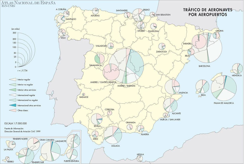 Aeropuertos En España Mapa.Ejercicios Practicos Apuntes Y Esquemas De Geografia De