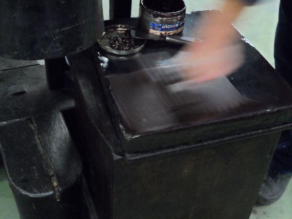 Rouleau encreur (Musée de l'Imprimerie)