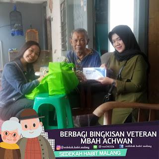 Mbah Achwan: Donasi Tunai & Bingkisan Veteran