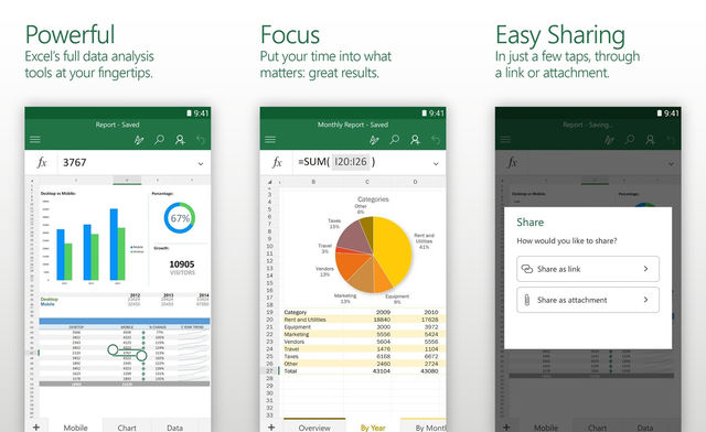 Microsoft Excel For Android Tablet
