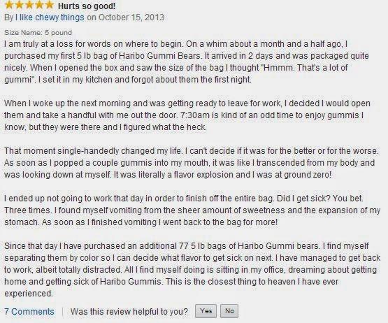 Funny Haribo Gummi Bear Amazon Review