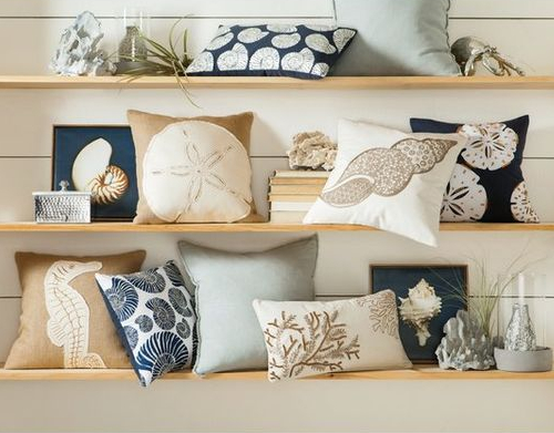 Matching Sets of Coastal Pillows