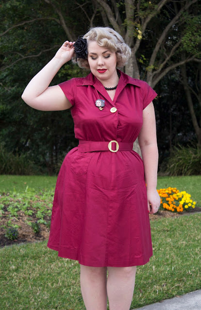 1940s Seamstress magic with The Black Pinafore