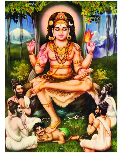 Hindu lord dakshinamurthy shiva picture